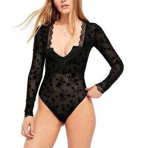 Free People Babes in Bandeaus Lace Bodysuit